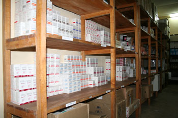 Pharmacy of an HIV/AIDS Project