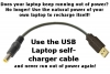 USB laptop charger